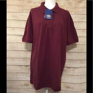NWT Dickies Burgundy Polo Tee